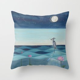 The Deep Blue Throw Pillow
