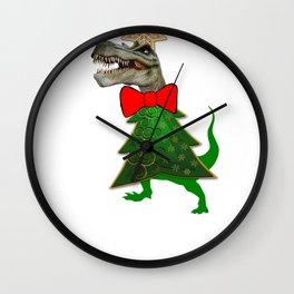 Tree Rex Dinosuar Tyrannasaurus Rex TRex Gift Christmas Dino Wall Clock