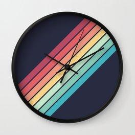 Lembona - Classic 70s Vintage Style Retro Summer Stripes Wall Clock