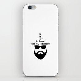 Beard man with the hat iPhone Skin