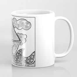 Doodle Boat Coloring Page and Color-in  Coffee Mug