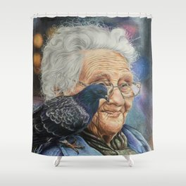 Pigeon Lady Shower Curtain