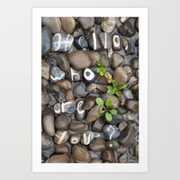 Real Stones Font Steambed Art Print