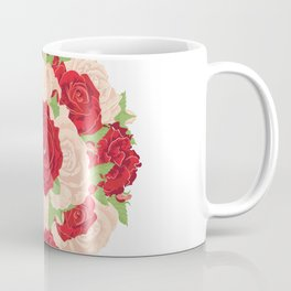 Red and Beige Roses Coffee Mug