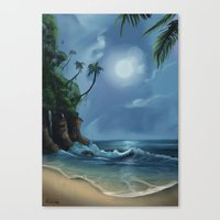 neverland Canvas Prints featuring Neverland by CERRIX