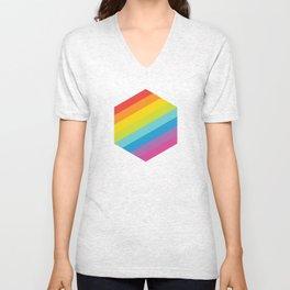 Pride: Rainbow Hexagon Unisex V-Neck