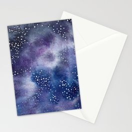 Purple Galaxy Stationery Cards