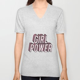 Girl Power Unisex V-Neck
