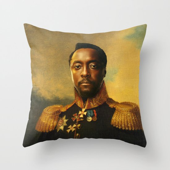 will.i.am - replaceface Throw Pillow