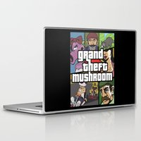 grand theft auto Laptop & iPad Skins featuring Grand Theft Mushroom by Ben Clark