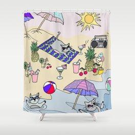 summer cats Shower Curtain