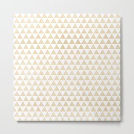 triangle white oak Metal Print