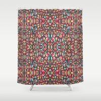 folk Shower Curtains featuring Folk by k_c_s