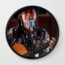 Terry Wolf - Cowgirl Rancher Songwriter Individual Wall Clock