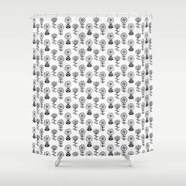 Doodle Garden Shower Curtain