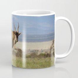 Eland with blue Kenyan hills Coffee Mug