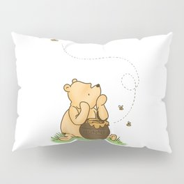 Classic Pooh with Honey - No background Pillow Sham