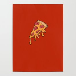 Cheesy Pepperoni Pizza Slice Poster