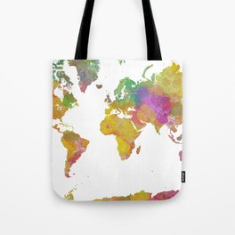 Map of the World - Watercolor 5 Tote Bag