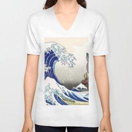 Legend of Zelda Great Wave Windwaker - the great wave off kanagawa Unisex V-Neck