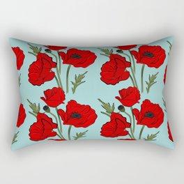Red poppies pattern Rectangular Pillow