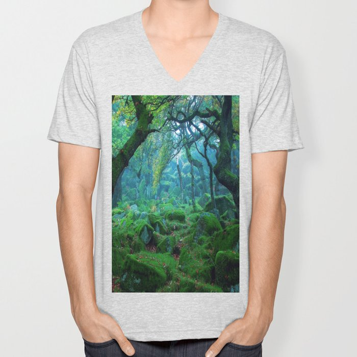 Enchanted forest mood Unisex V-Neck