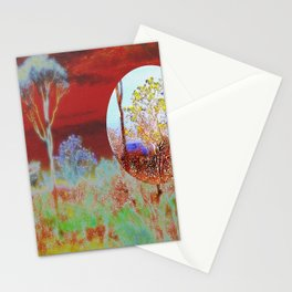 The Planet of the Yellow Flowers Stationery Cards