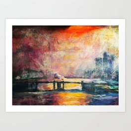 """the Thames at Charing Cross Road"" Monet Art Print"