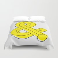 ampersand Duvet Covers featuring Ampersand by MADEYOUL__K