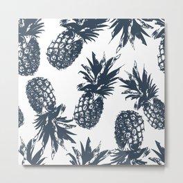 Pineapples Metal Print