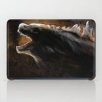 godzilla iPad Cases featuring Godzilla by Wesley S Abney