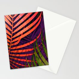 COLORFUL TROPICAL LEAVES no5 Stationery Cards