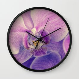 Orchid - lilac colored Wall Clock