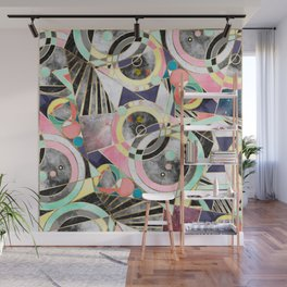 Modern geometric abstract pattern Wall Mural