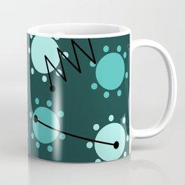 Mid Century Modern Sunshine Teal Coffee Mug