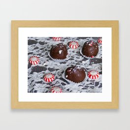 Candy Cane Cake Truffles: Take Two Framed Art Print