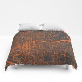 Brisbane Map Comforters