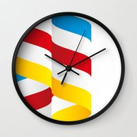 flag Wall Clocks featuring Flag by Kexit guys