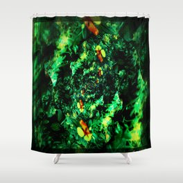 Fractured Garden  Shower Curtain