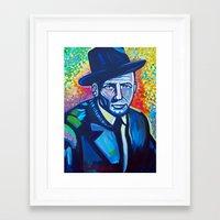 frank sinatra Framed Art Prints featuring Frank Sinatra by camillustration