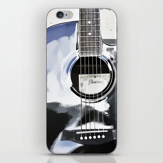 Be Your Song and Rock On in White II iPhone & iPod Skin