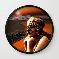 oasis Wall Clocks featuring Oasis by Danielle Tanimura