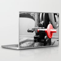 sewing Laptop & iPad Skins featuring Sewing Machine by Four Hands Art