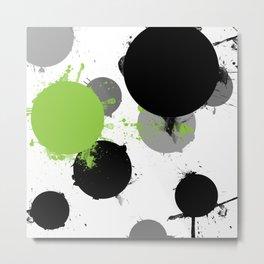 Dabbles and Dots Three Metal Print