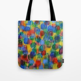 Abstract Color Art with Brushstrokes in Red, Blue, Yellow, Green Tote Bag