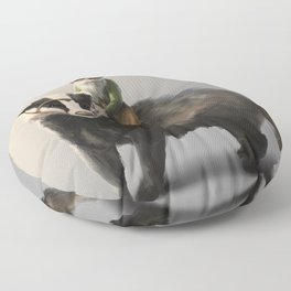 Gnome on Badger Floor Pillow