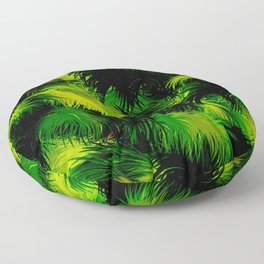 Tropical,feather like green leaf pattern Floor Pillow