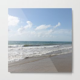 Tropical Paradise Caribbean Beach on Tobago Metal Print