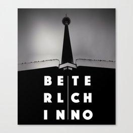 Berlin Techno - TV tower Canvas Print