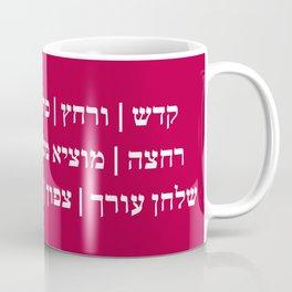 Passover Pesach Seder Order in Hebrew Coffee Mug